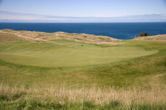 Arcadia Bluffs Golf Course. This is a shot of the Arcadia Bluffs Golf Course with Lake Michigan in the background Stock Image