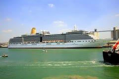 The Arcadia cruise liner. Preparing to sail at Southampton docks Royalty Free Stock Image