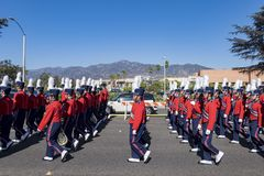 Arcadia Festival of Bands. Arcadia, NOV 19: The famous Arcadia Festival of Bands parade on NOV 19, 2017 at Arcadia, Los Angeles County, California, United States Stock Photo