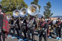 Arcadia Festival of Bands. Arcadia, NOV 19: The famous Arcadia Festival of Bands parade on NOV 19, 2017 at Arcadia, Los Angeles County, California, United States Stock Photography