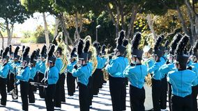 Arcadia Festival of Bands. Arcadia, NOV 19: The famous Arcadia Festival of Bands parade on NOV 19, 2017 at Arcadia, Los Angeles County, California, United States stock footage