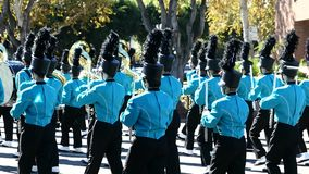 Arcadia Festival of Bands. Arcadia, NOV 19: The famous Arcadia Festival of Bands parade on NOV 19, 2017 at Arcadia, Los Angeles County, California, United States stock video footage