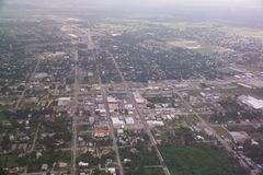 Arcadia, FL downtown aerial view. This is an air photo of downtown Arcadia in central Florida Stock Image