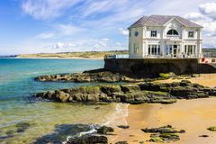 Portrush, Northern Ireland. The Arcadia, a historic cafe and ballroom in the coast of Portrush, a small seaside resort town in County Antrim, Northern Ireland Royalty Free Stock Photography