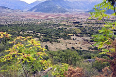 Arcadia mountains scenery in Greece. Arcadia mountains and upland scenery at peloponnese peninsula in Greece Royalty Free Stock Photography