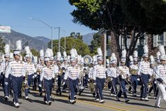 Arcadia Festival of Bands. Arcadia, NOV 19: The famous Arcadia Festival of Bands parade on NOV 19, 2017 at Arcadia, Los Angeles County, California, United States Royalty Free Stock Photography