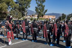 Arcadia Festival of Bands. Arcadia, NOV 19: The famous Arcadia Festival of Bands parade on NOV 19, 2017 at Arcadia, Los Angeles County, California, United States Stock Images