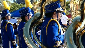 Arcadia Festival of Bands. Arcadia, NOV 19: The famous Arcadia Festival of Bands parade on NOV 19, 2017 at Arcadia, Los Angeles County, California, United States stock video
