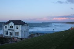 ARCADIA, Portrush, Co Antrim, Northern Ireland. ARCADIA former ballroom, in Portrush, Co Antrim, Northern Ireland. In the distance right, East Strand and stock photos