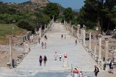 Arcadian Street in Ephesus Ancient City Stock Photo