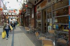 Arcadianen, Birmingham, kinesisk fjärdedel Royaltyfri Fotografi