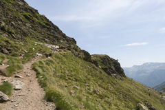 Arcalis. Pathway in Arcalis (Andorra) area in the Pyrenees Stock Photography
