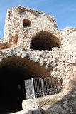 Arcs of Yehiam Fortress, Israel. Arced buildings the ruins on Yehiam Fortress National Park, Israel Stock Photography