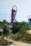 ArcelorMittal Orbit. London, UK - August 2nd, 2015: photo of the ArcelorMittal Orbit, UK's tallest sculpture, in the Queen Elizabeth Park in London Stock Photo