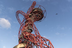 ArcelorMittal Orbit. The ArcelorMittal Orbit is a 114.5-metre-tall sculpture and observation tower in the Queen Elizabeth Olympic Park in Stratford, London Stock Photography
