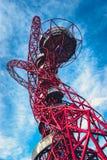 ArcelorMittal Orbit in the Queen Elizabeth Olympic Park, London. Queen Elizabeth Olympic Park, London - July 28, 2013:  ArcelorMittal Orbit tower in the Queen Stock Photo