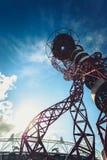 ArcelorMittal Orbit in the Queen Elizabeth Olympic Park, London. Queen Elizabeth Olympic Park, London - July 28, 2013:  ArcelorMittal Orbit tower in the Queen Stock Image