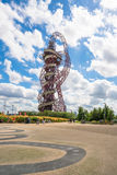 ArcelorMittal Orbit sculpture in the Olympic Park, London, UK. LONDON, UK - AUGUST 7, 2016: Created by Anish Kapoor and Cecil Balmond, the ArcelorMittal Orbit is Royalty Free Stock Images