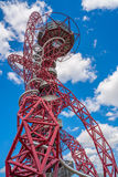 ArcelorMittal Orbit sculpture in the Olympic Park, London, UK. LONDON, UK - AUGUST 7, 2016: Created by Anish Kapoor and Cecil Balmond, the ArcelorMittal Orbit is Royalty Free Stock Photo