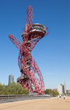 The ArcelorMittal Orbit sculpture. The ArcelorMittal Orbit sculpture with slide at the Queen Elizabeth Olympic Park, a legacy of the Olympic Games designed by Royalty Free Stock Image