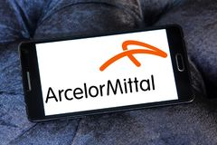 ArcelorMittal steel manufacturing company logo Stock Image