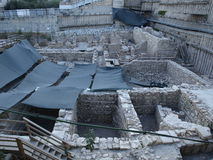 Arceological site at City of David, Jerusalem. Arceological reconstructed site at City of David at Jerusalem Royalty Free Stock Photo