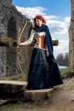 Arcere femminile antico immagini stock