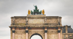 Arcet de Triomphe du Carrousel i Paris Royaltyfria Foton