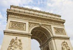 Arcet de Triomphe, Paris Royaltyfri Foto