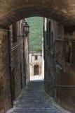 Arcevia (mars, Italie) Photographie stock libre de droits