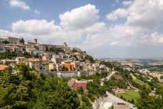 Arcevia (marzo, Italia) Fotografia Stock