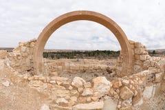 Archäologiestandort bei Yeruham Lizenzfreies Stockfoto