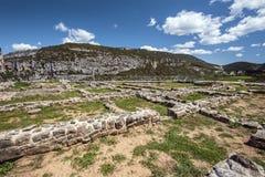 Archäologische Überreste des römischen Hauses De Liedena in Navarra Stockfotografie