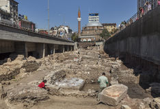 Archäologische Aushöhlung in Sofia Stockfoto
