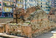Archäologische Aushöhlungen des Palastes Roman Emperor Gas Lizenzfreie Stockfotos