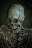 Archäologische Aushöhlungen eines alten menschlichen Skeletts und des menschlichen Schädels Lizenzfreie Stockfotos