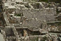 Archäologische Aushöhlungen von altem Jerusalem Stockfoto