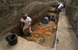 Archäologische Fundstätte Lizenzfreies Stockbild