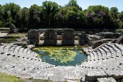 Archäologische Fundstätte in Albanien Stockbild