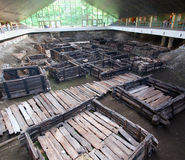 Archäologische Fundstätte Berestye in Brest Lizenzfreies Stockbild