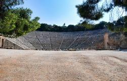 Archäologische Fundstätte der alten Olympia in Griechenland Stockbild