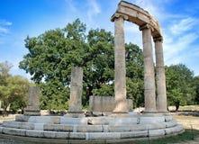 Archäologische Fundstätte der alten Olympia in Griechenland Lizenzfreies Stockfoto