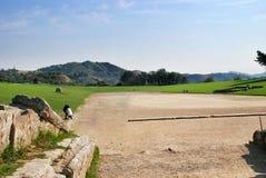 Archäologische Fundstätte der alten Olympia in Griechenland Stockfoto