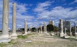 Archäologische Fundstätte des AlMina, Reifen, der Libanon stockfotos