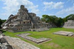 Archäologische Fundstätte Edzna nahe Campeche Mexiko stockbilder