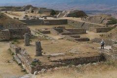 Archäologische Fundstätte Monte Alban der UNESCO-Welt sie Lizenzfreie Stockfotos