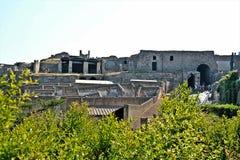 Archäologische Fundstätte Pompejis Lizenzfreies Stockfoto