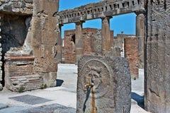 Archäologische Fundstätte Pompejis Lizenzfreie Stockfotos