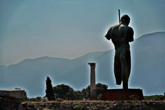 Archäologische Fundstätte Pompejis Stockfoto