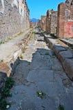 Archäologische Fundstätte Pompejis Stockfotografie